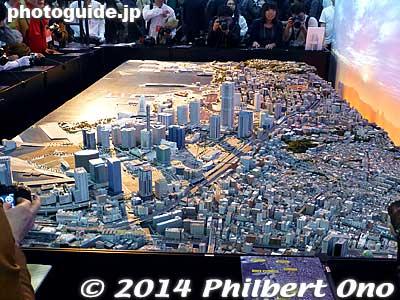 Nikon booth had this diorama of Tokyo.