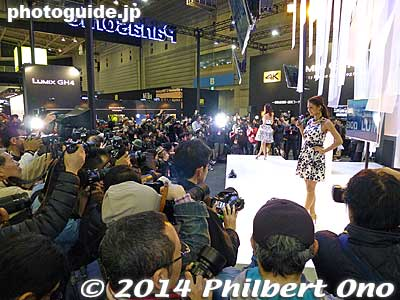 Panasonic/Lumix booth.